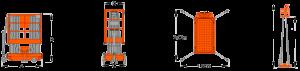 Plataforma vertical movil GTWY8-2000 / GTWY10-2000 / GTWY12-2000 / GTWY14-2000 / GTWY16-2000
