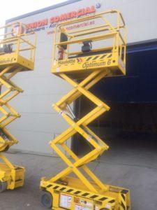 Tijeras eléctricas de 6 metros de altura de trabajo