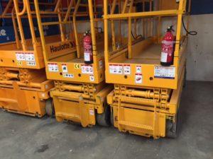 Tijeras eléctricas de 8 metros de altura de trabajo